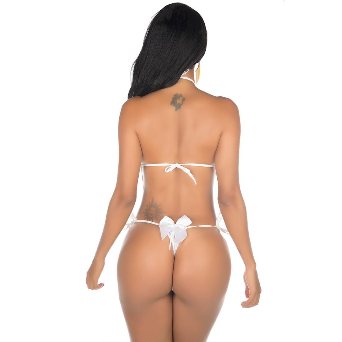 Body Branco Renda Sensual - Pimenta Sexy