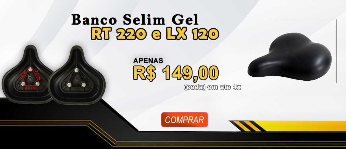 Banco Selim Gel Bicicleta Ergométrica Movement RT 220 e LX 120