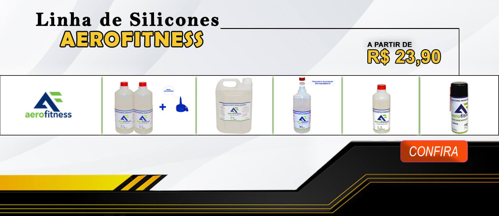 Linha de Silicones Aerofitness