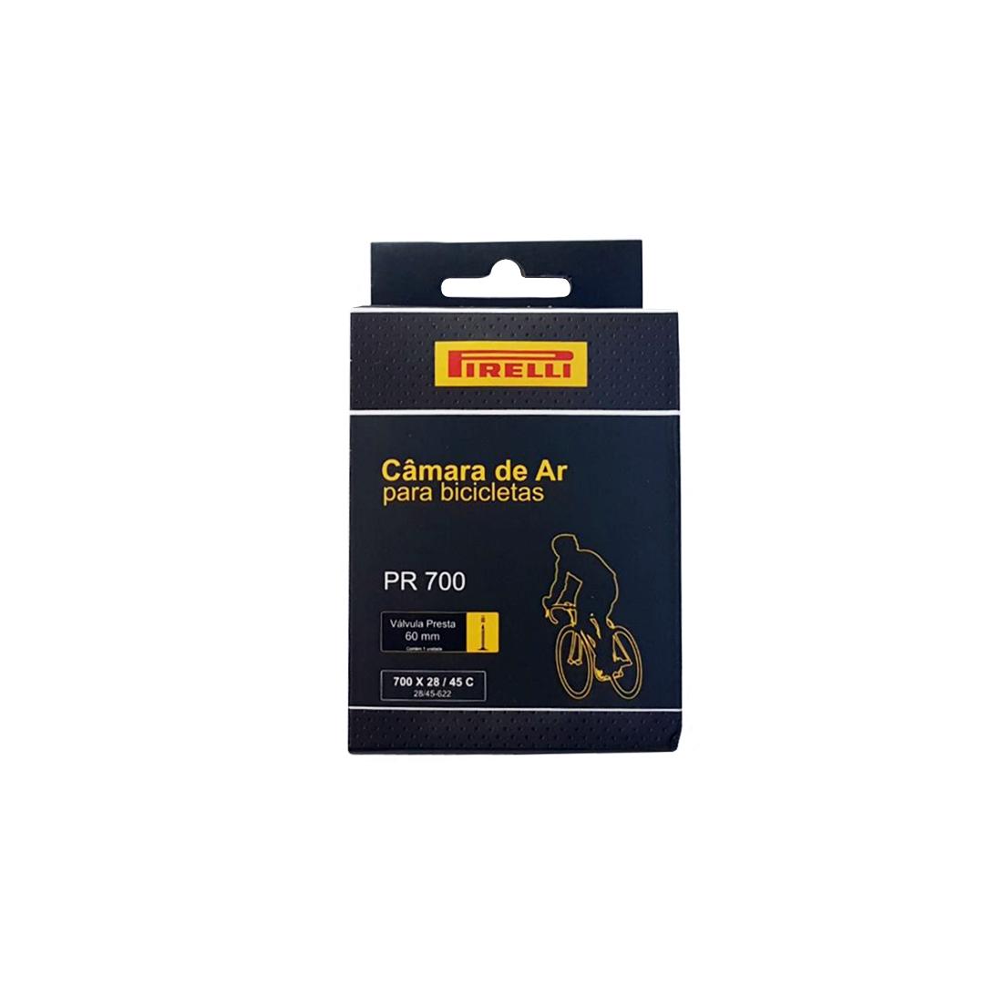 Câmara de Ar para Bicicleta Speed Pirelli 700x28/45 Bico Fino 60mm