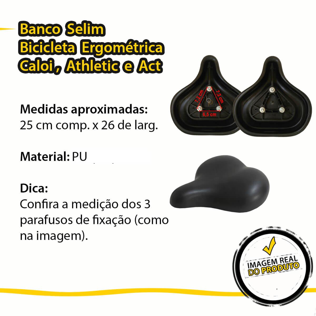 Banco Selim Para Bicicleta Ergométrica Caloi Athletic e ACT