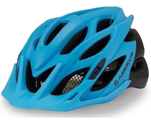 Capacete Bike Ciclismo Bicicleta Mtb Absolute Wild Azul Preto