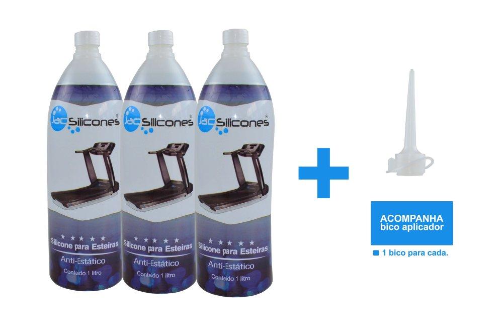 Kit 3 Litros Silicone Lubrificante Esteira  Jac