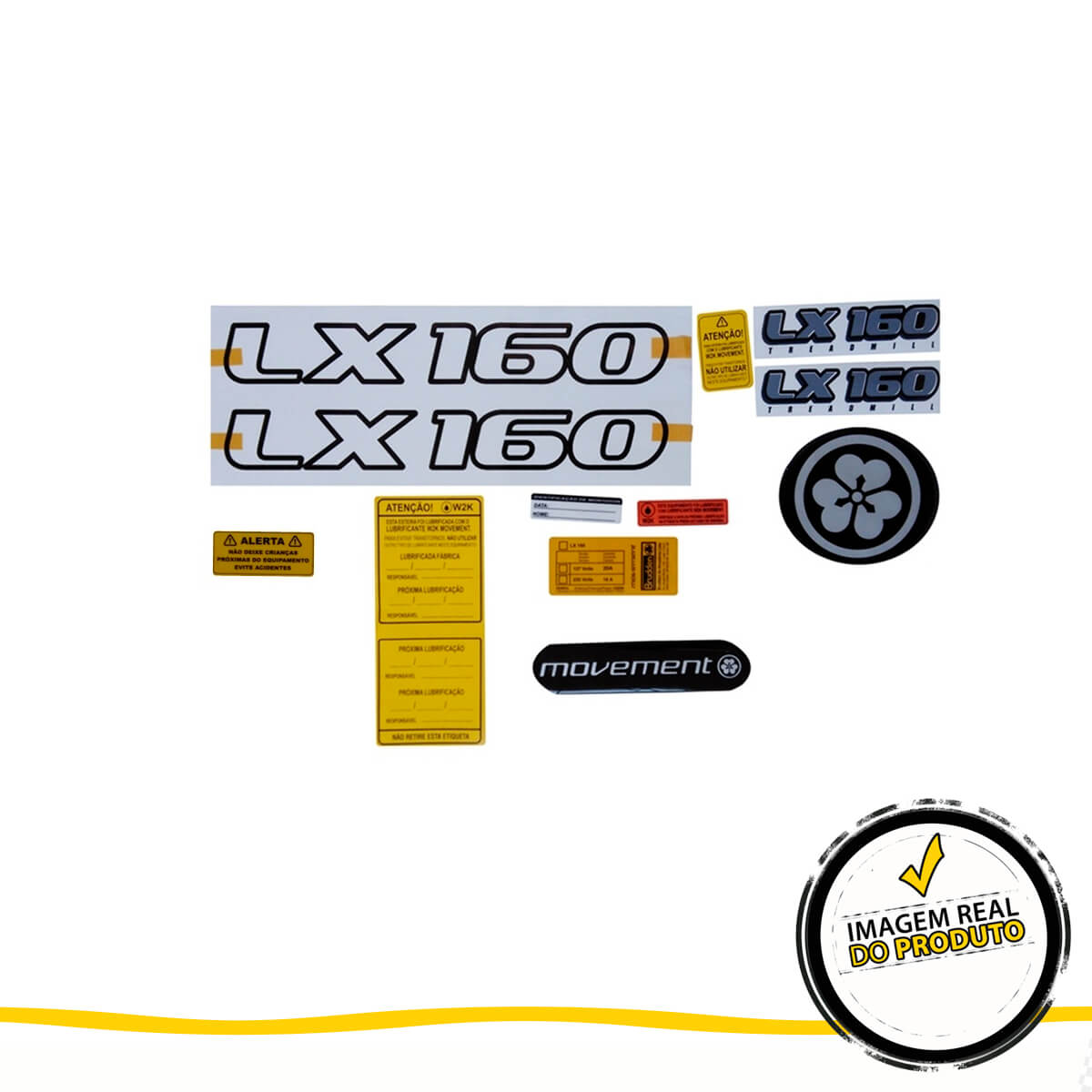 Kit Adesivo Esteira Movement LX 160 G2
