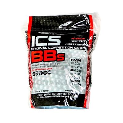 Munição/Esferas BBs 0,25 ICS 6MM 3500 unidades