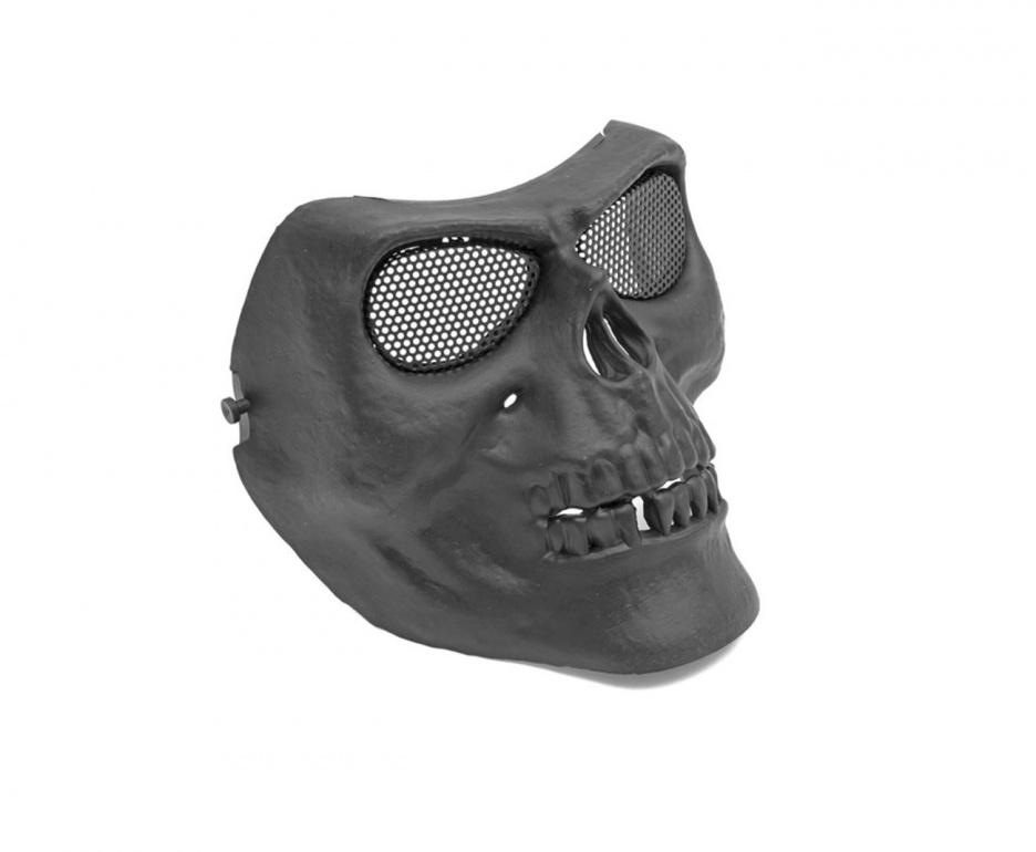 Máscara de Proteção Caveira c/ Tela - Preta ( Completa )