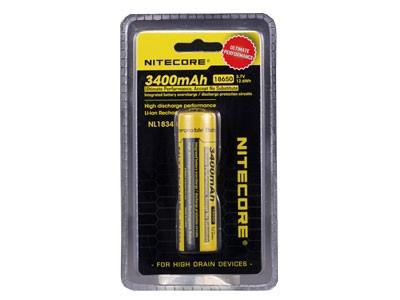 Baterias de Litio 18650 Nitecore 3400mAH 3.7V