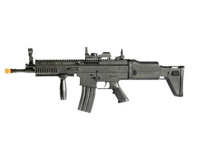 Rifle de Airsoft Scar Mola Plast Preto 6mm