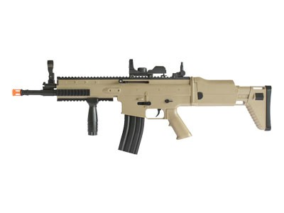 Rifle de Airsoft Scar Mola Plast Tan 6mm