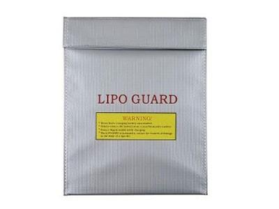 Saco de Proteção para Bateria de Lipo Safe Bag Anti-Chamas 23MM* 30MM