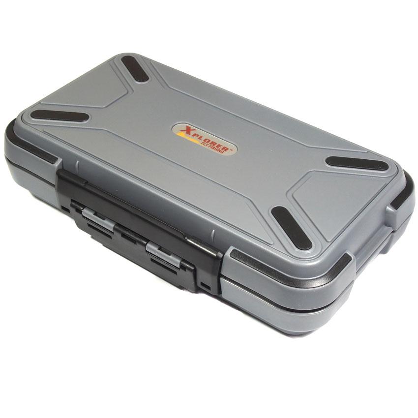 Caixa para Moscas Xplorer Deluxe Waterproof Fly Box Cinza