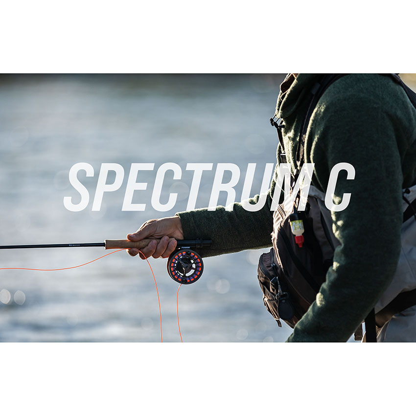 Carretilha de Fly SAGE Spectrum C, Alumínio, Freio Selado, Carretel Largo