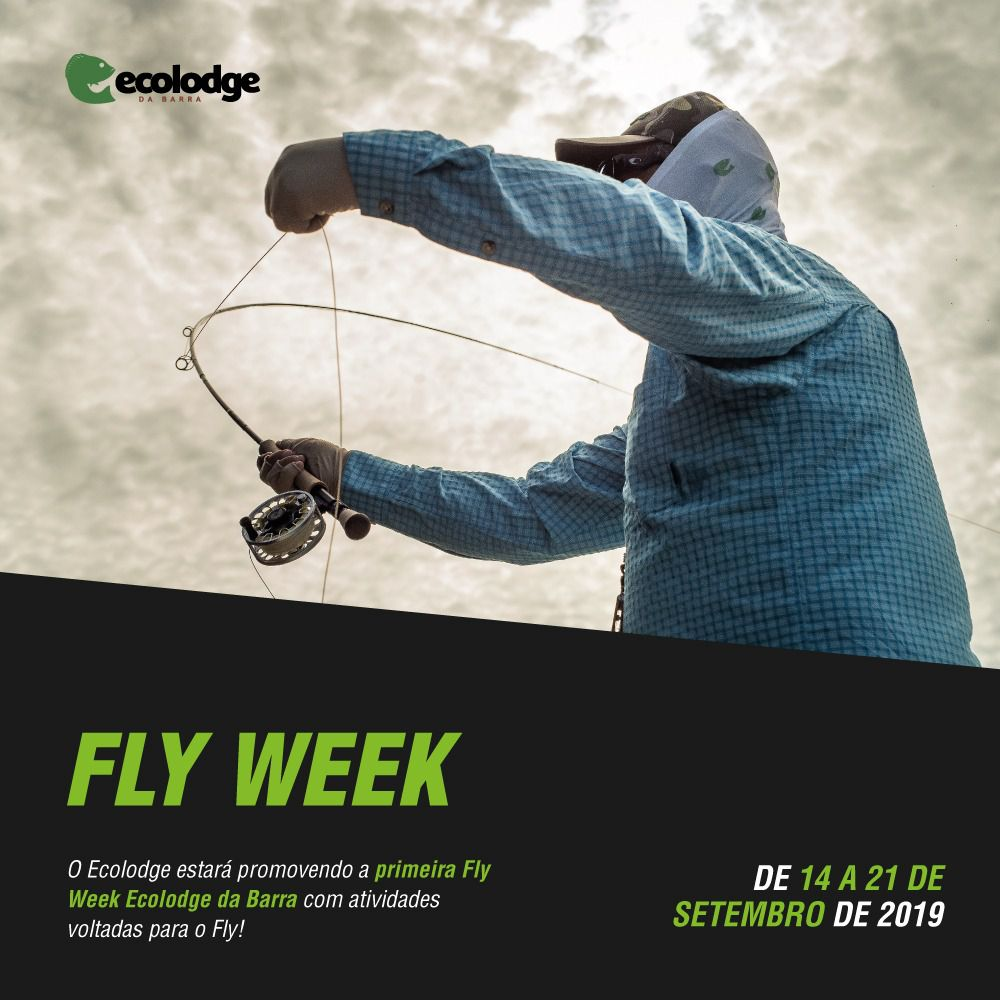 Fly Week - Ecolodge da Barra, Amazônia - 6 dias de pesca (14 a 21/Set 2019)