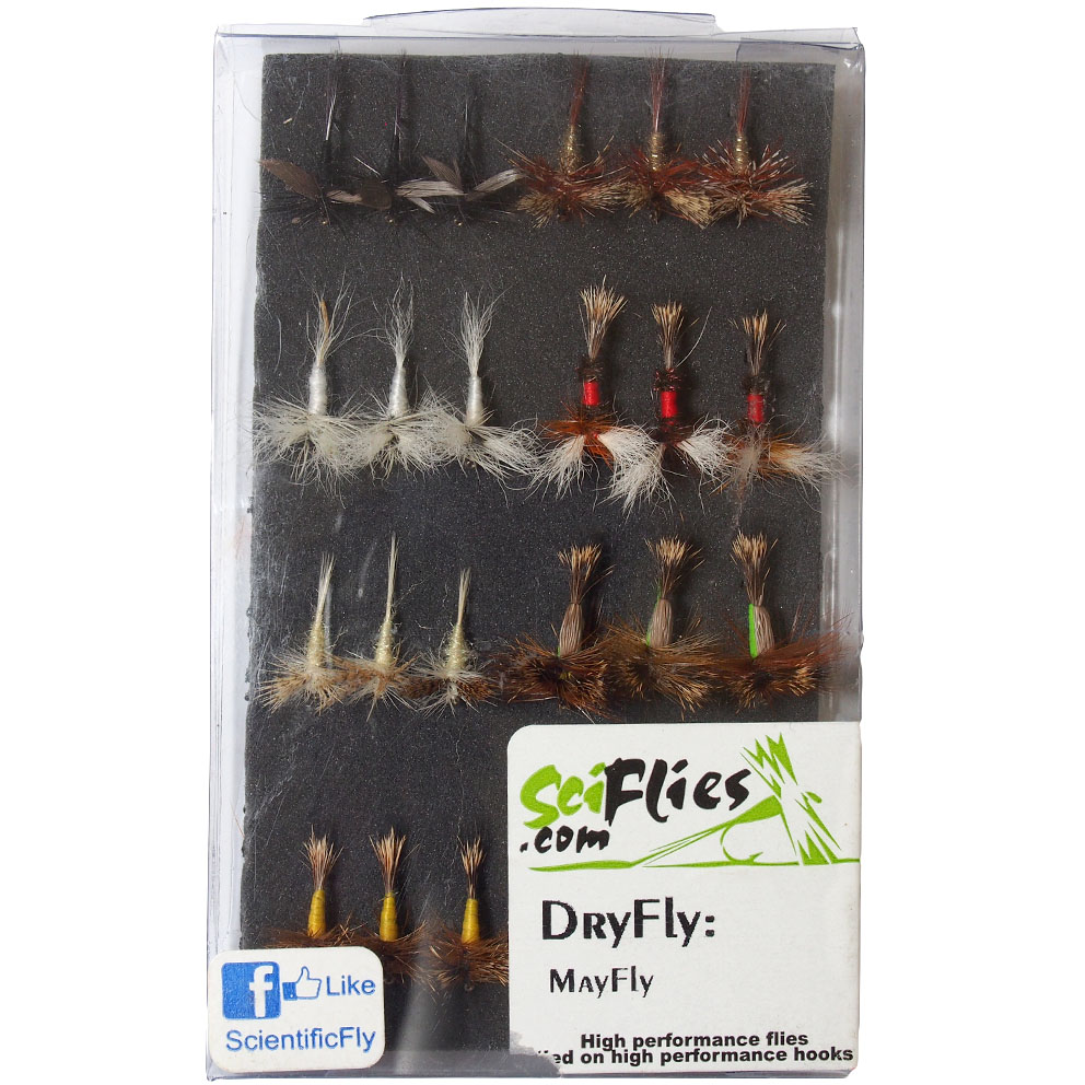 Kit de Moscas Dry Fly Mayfly SciFlies