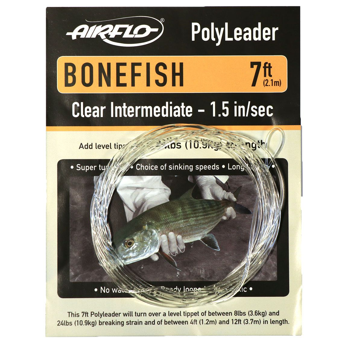 Leader Airflo Bonefish Polyleader Clear Intermediate 7'
