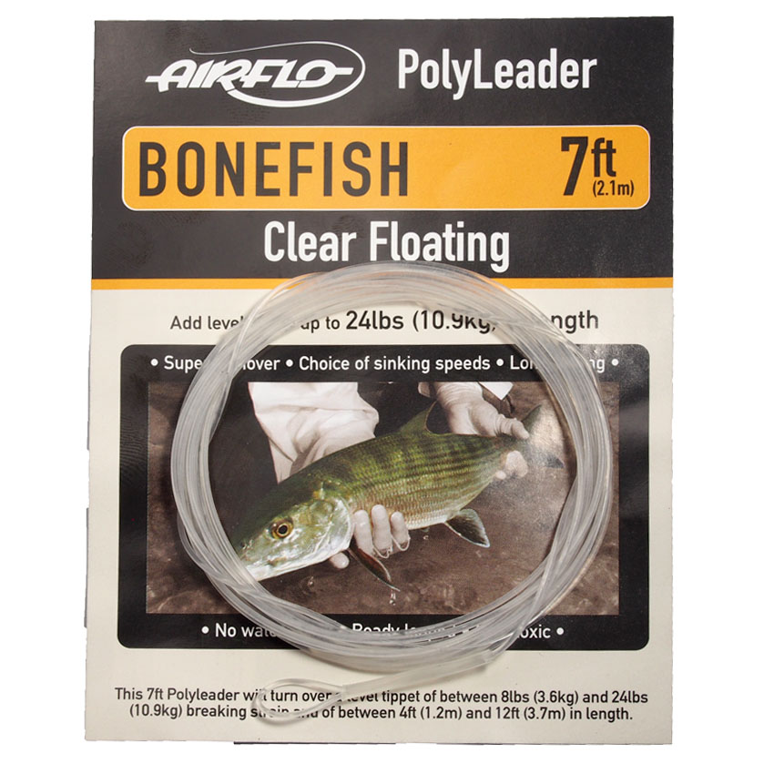 Leader Airflo Bonefish Polyleader Clear Floating 7'