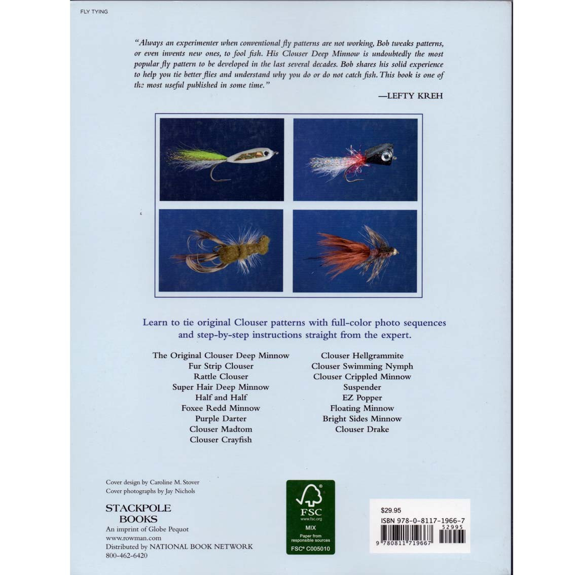 Livro Clouser's Flies: Tying & Fishing the Fly Patterns of (Bob Clouser)