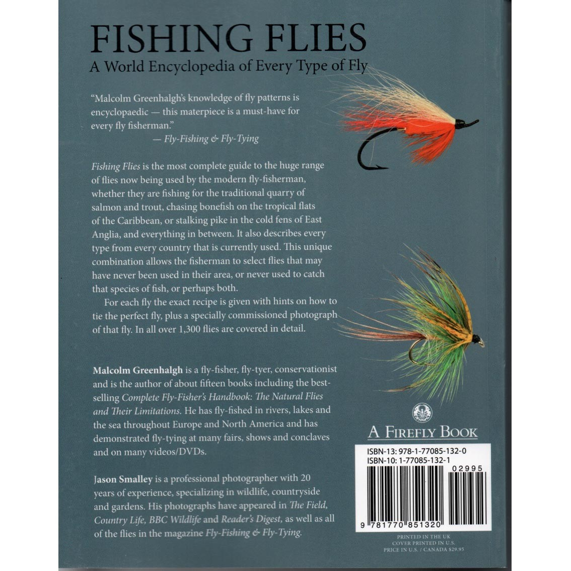 Livro Fishing Flies: A World Encyclopedia of Every Type of Fly (Greenhalgh & Jason Smalley)