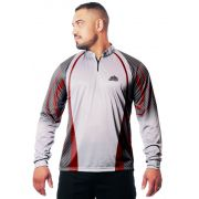 CAMISA DE PESCA MASCULINA WHITE RED TECHNOLOGY