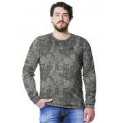 Camiseta  Camuflada Digital ACU Longa Masculina