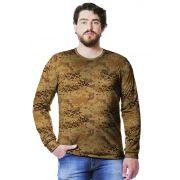 Camiseta  Camuflada Digital Deserto Longa Masculina