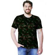 Camiseta Camuflada Exército Brasileiro Manga Curta Masculina