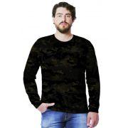 Camiseta  Camuflada Multicam Black Longa Masculina