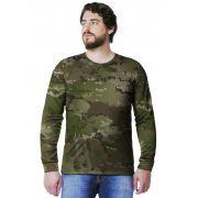 Camiseta  Camuflada Multicam Longa Masculina