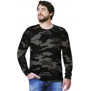 Camiseta  Camuflada Urbano Black Longa Masculina