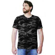 Camiseta Camuflada Urbano Black Manga Curta Masculina