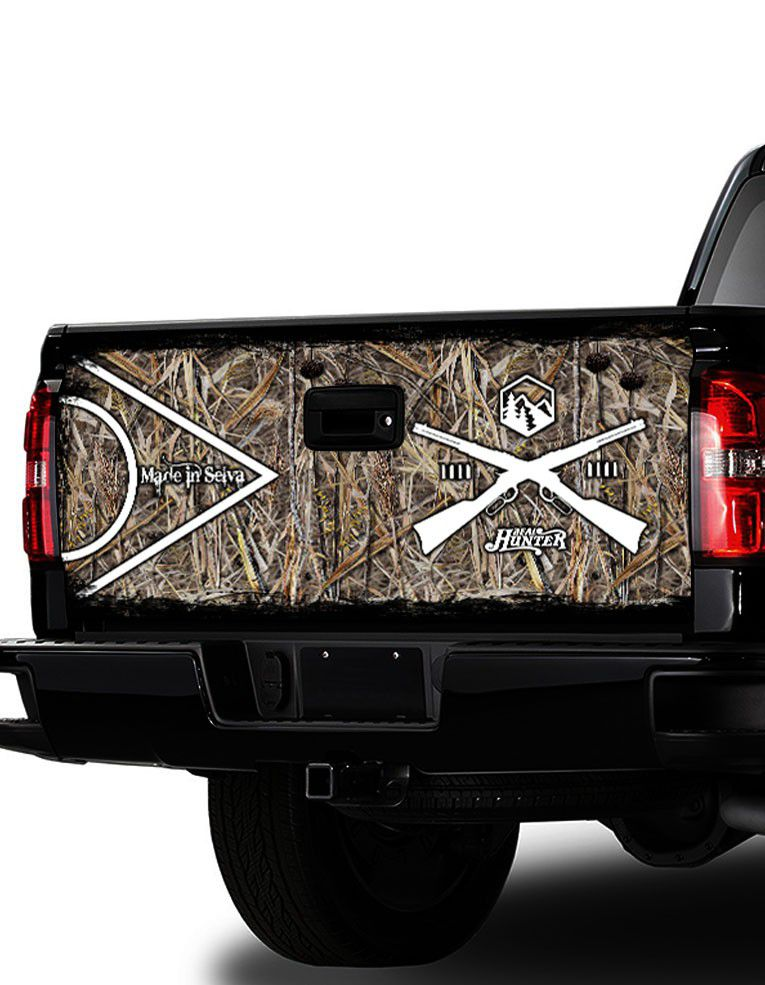 Adesivo de Tampa Traseira S-10, Hilux, Amarok, L-200, Frontier   - REAL HUNTER OUTDOORS
