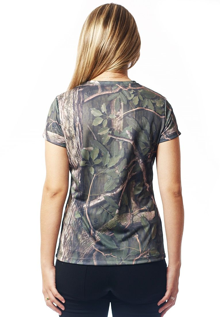 CAMISETA BABY LOOK CAMUFLADA AMAZÔNIA MANGA CURTA FEMININA - REAL HUNTER OUTDOORS