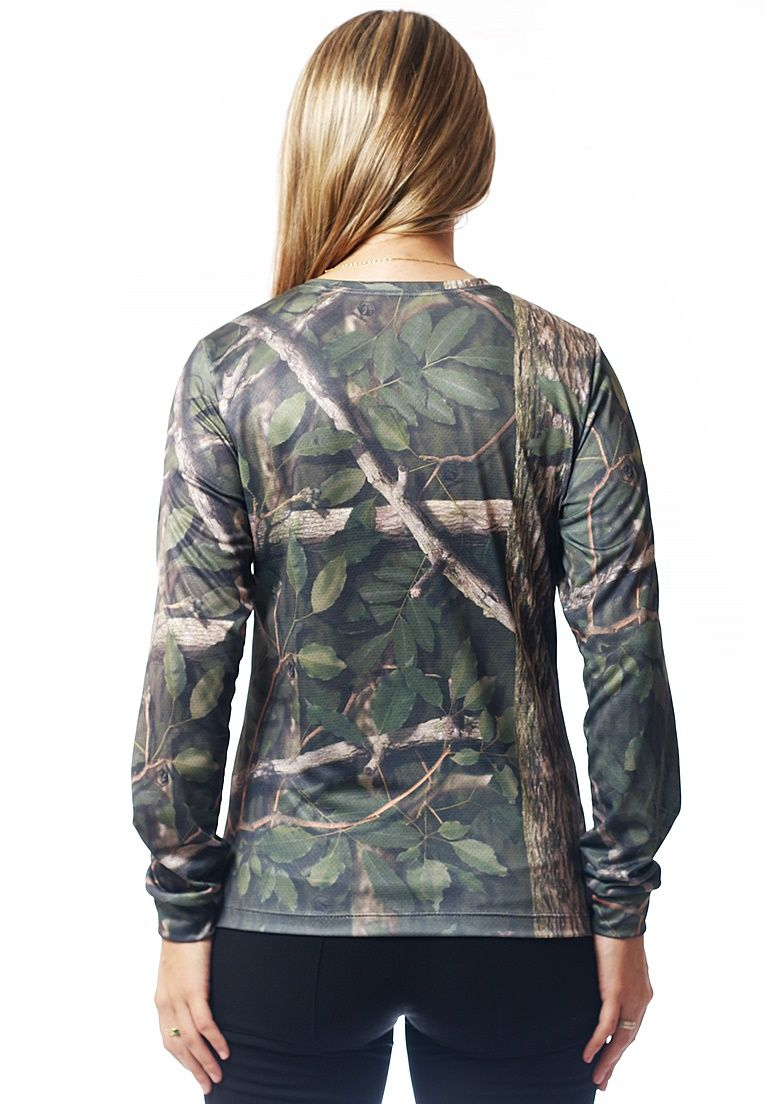 CAMISETA BABY LOOK CAMUFLADA AMAZÔNIA MANGA LONGA FEMININA  - REAL HUNTER OUTDOORS