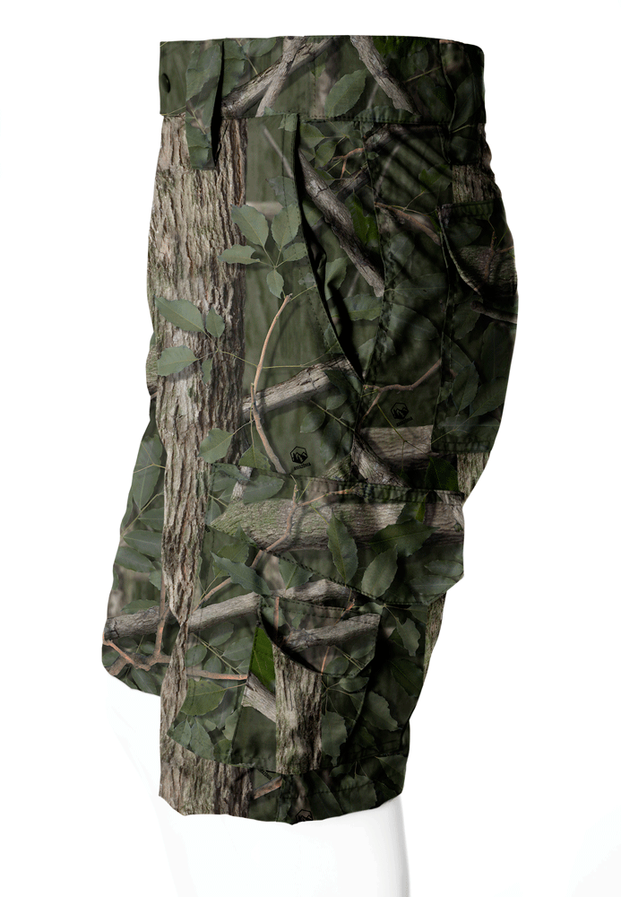 BERMUDA CAMUFLADA AMAZÔNIA BRIM FLÚOR CARBON MASCULINA  - REAL HUNTER OUTDOORS