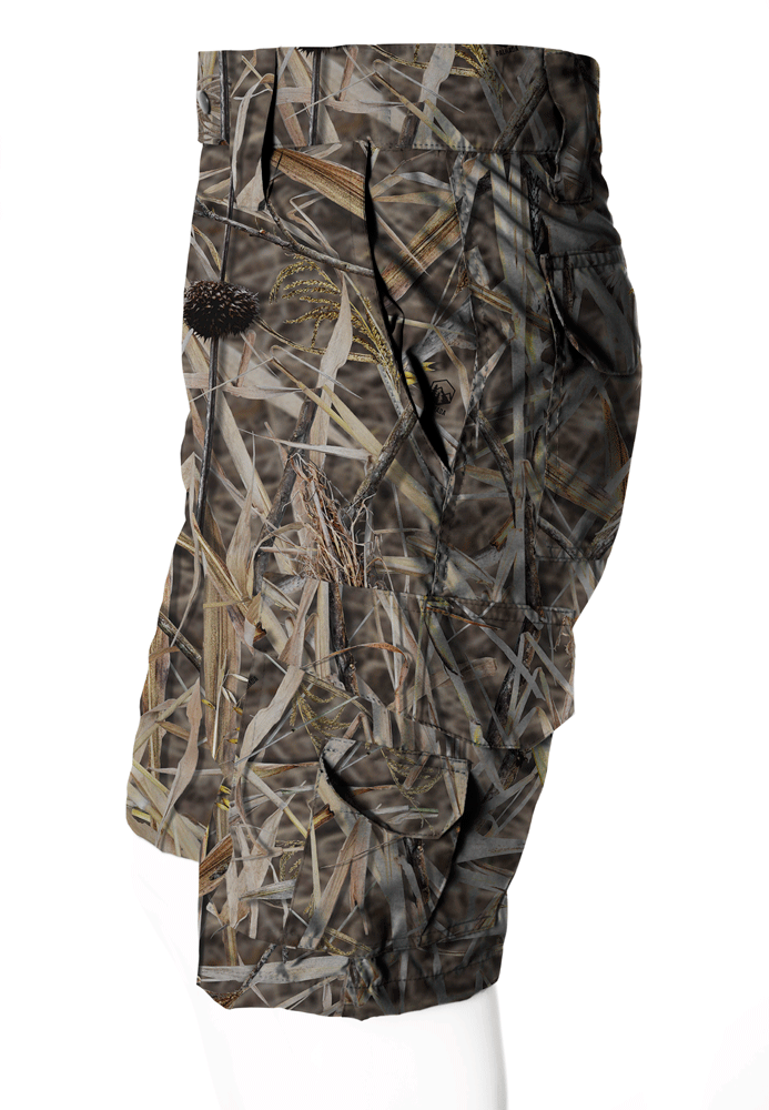 BERMUDA CAMUFLADA PALHADA BRIM FLÚOR CARBON MASCULINA  - REAL HUNTER OUTDOORS