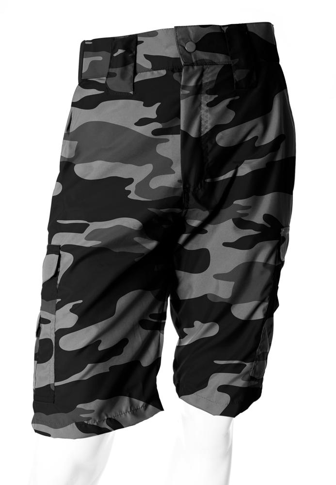 Bermuda Camuflada Urbano Black Brim Flúor Carbon Masculina  - REAL HUNTER OUTDOORS