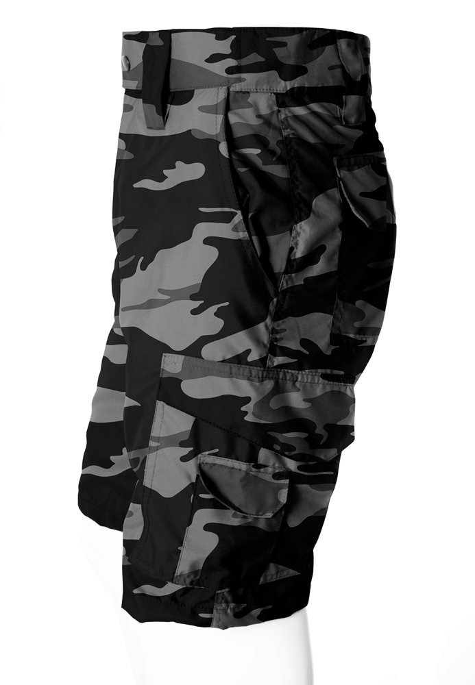 BERMUDA CAMUFLADA URBANO BLACK BRIM FLÚOR CARBON MASCULINA  - REAL HUNTER OUTDOORS