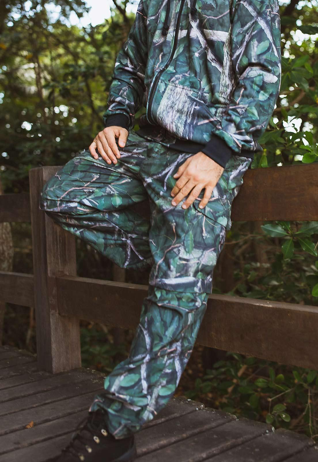 Calça-Bermuda Camuflada Amazônia UltraLight Masculina  - Real Hunter
