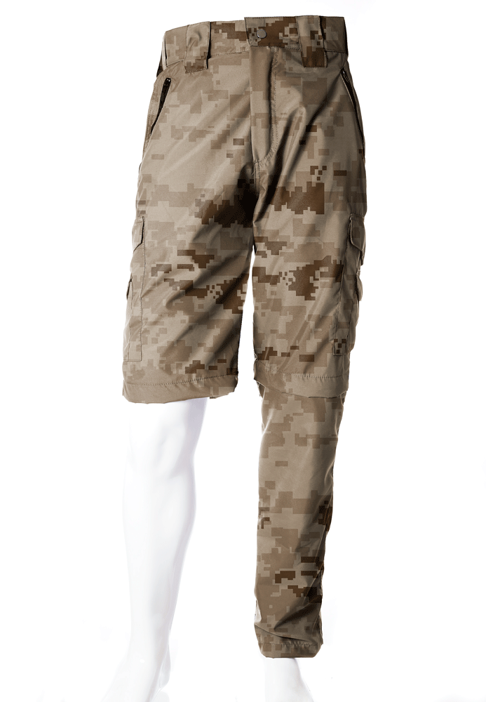 Calça-Bermuda Camuflada Digital Deserto UltraLight Masculina  - REAL HUNTER OUTDOORS