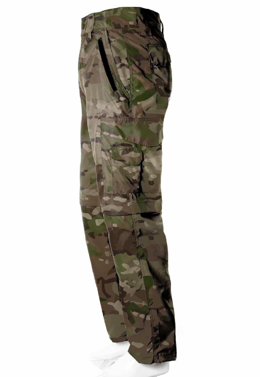 Calça-Bermuda Camuflada Exército Multicam UltraLight Masculina