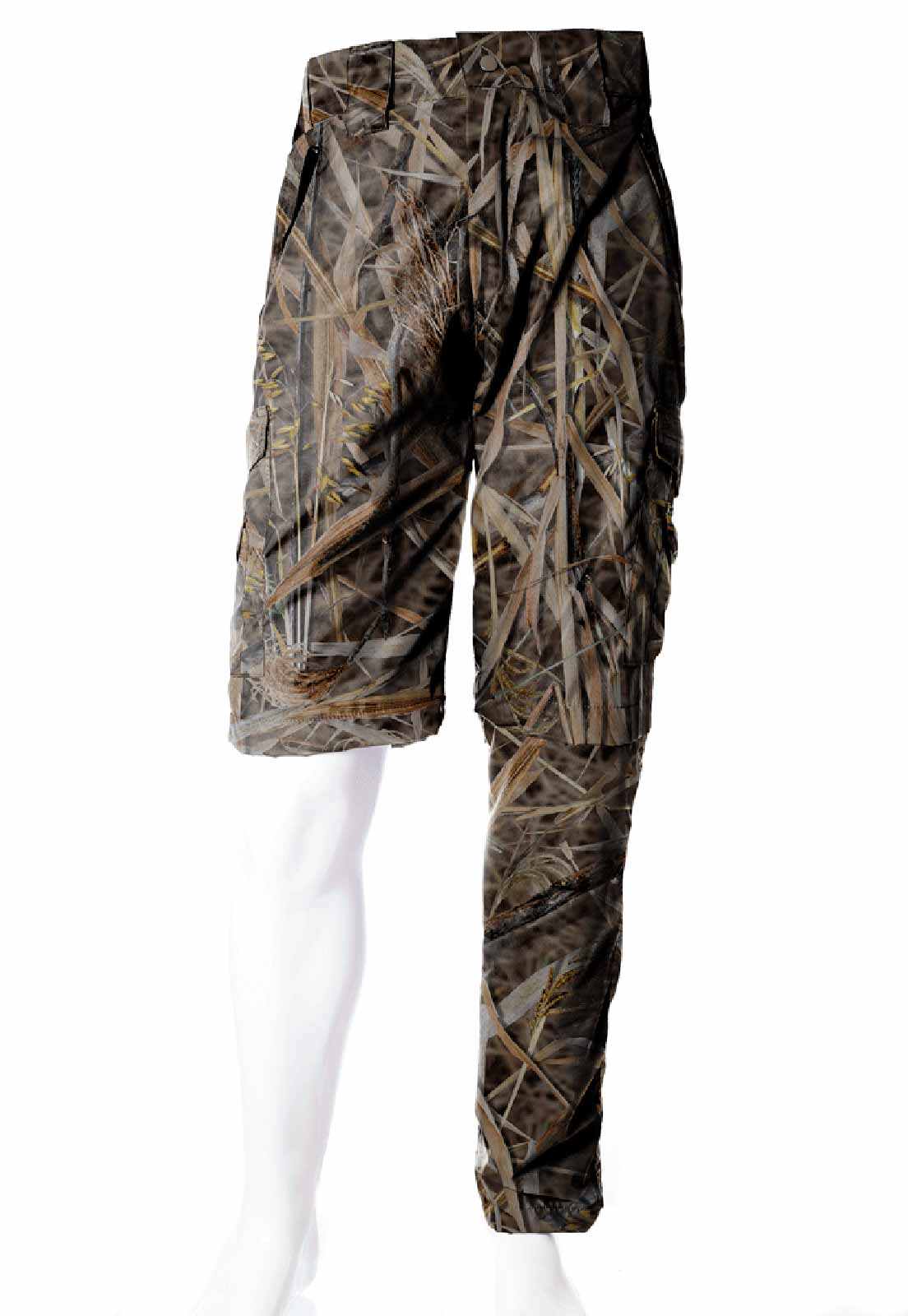 Calça-Bermuda Camuflada Folhagem Palhada UltraLight Masculina  - REAL HUNTER OUTDOORS