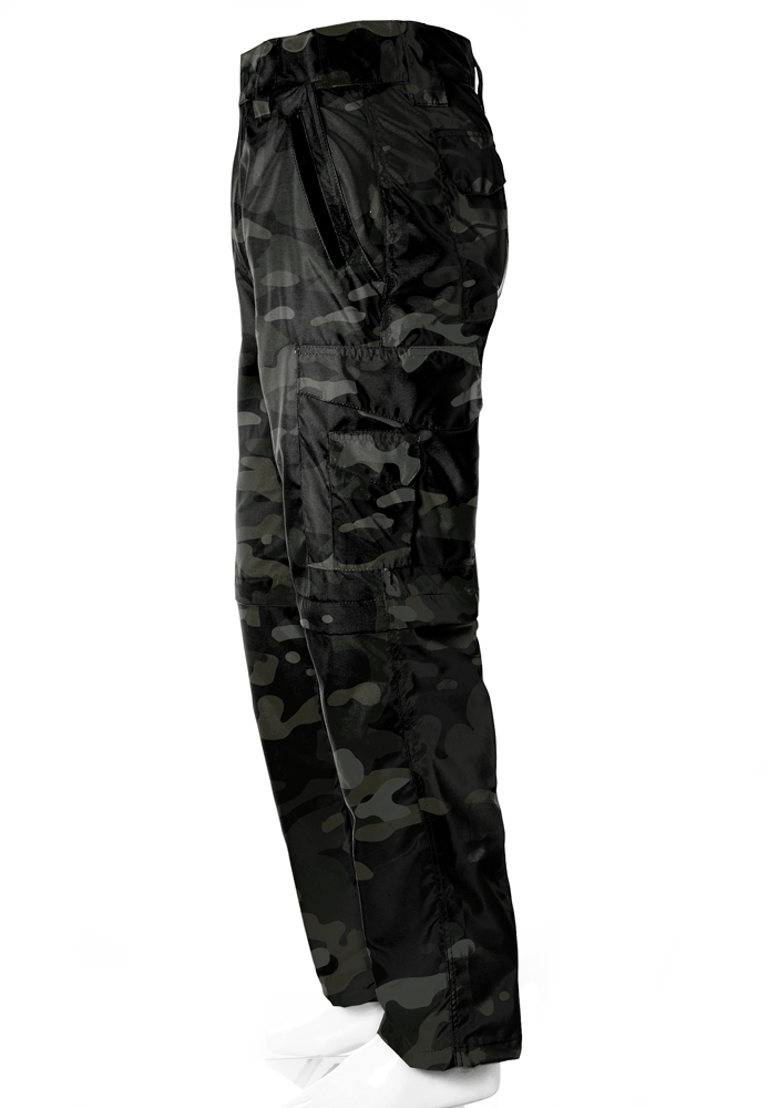 Calça-Bermuda Camuflada Multicam Black UltraLight Masculina  - REAL HUNTER OUTDOORS