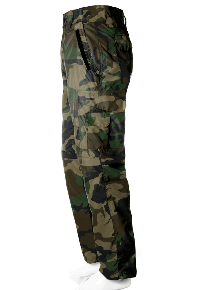 Calça-Bermuda Camuflada Woodland UltraLight Masculina - REAL HUNTER OUTDOORS