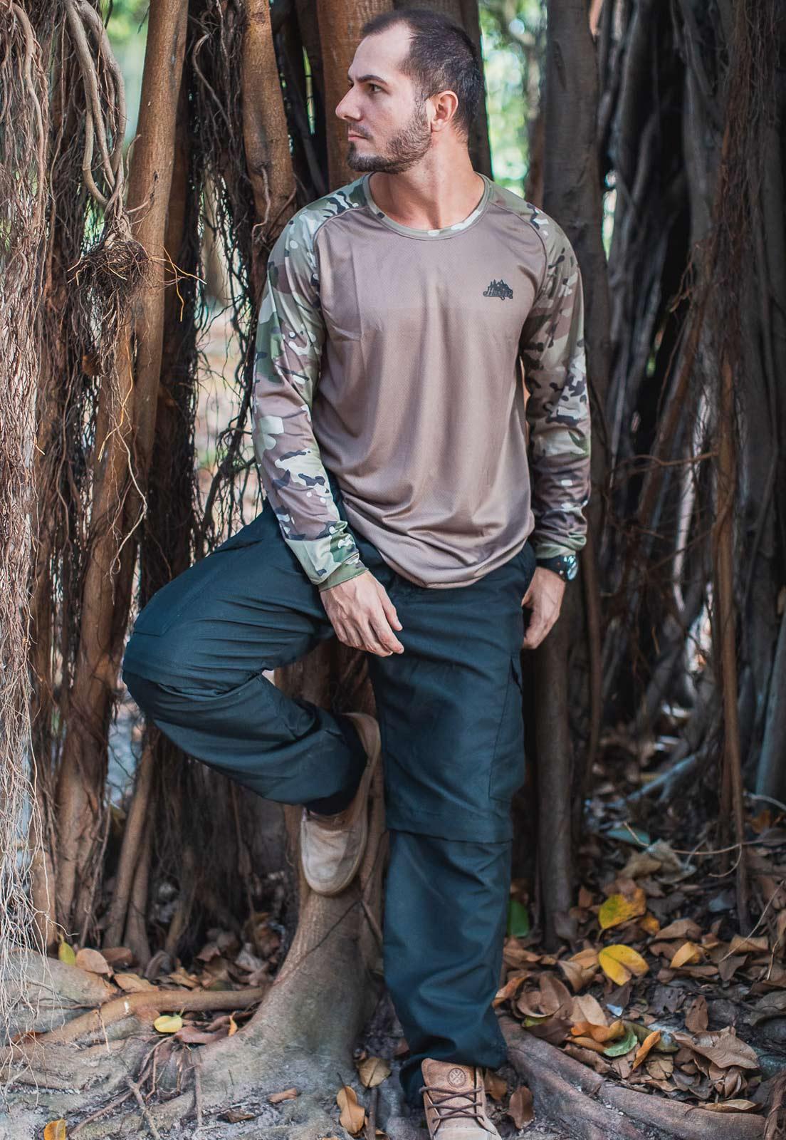 Calça-Bermuda Cores Preta UltraLight Masculina  - Real Hunter