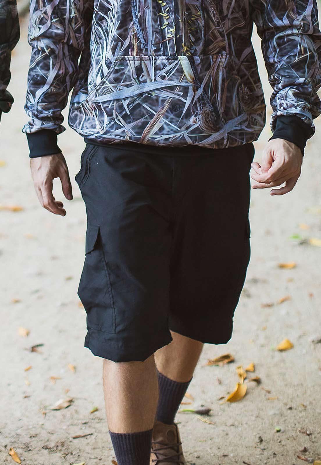 Calça-Bermuda Cores Preta UltraLight Masculina