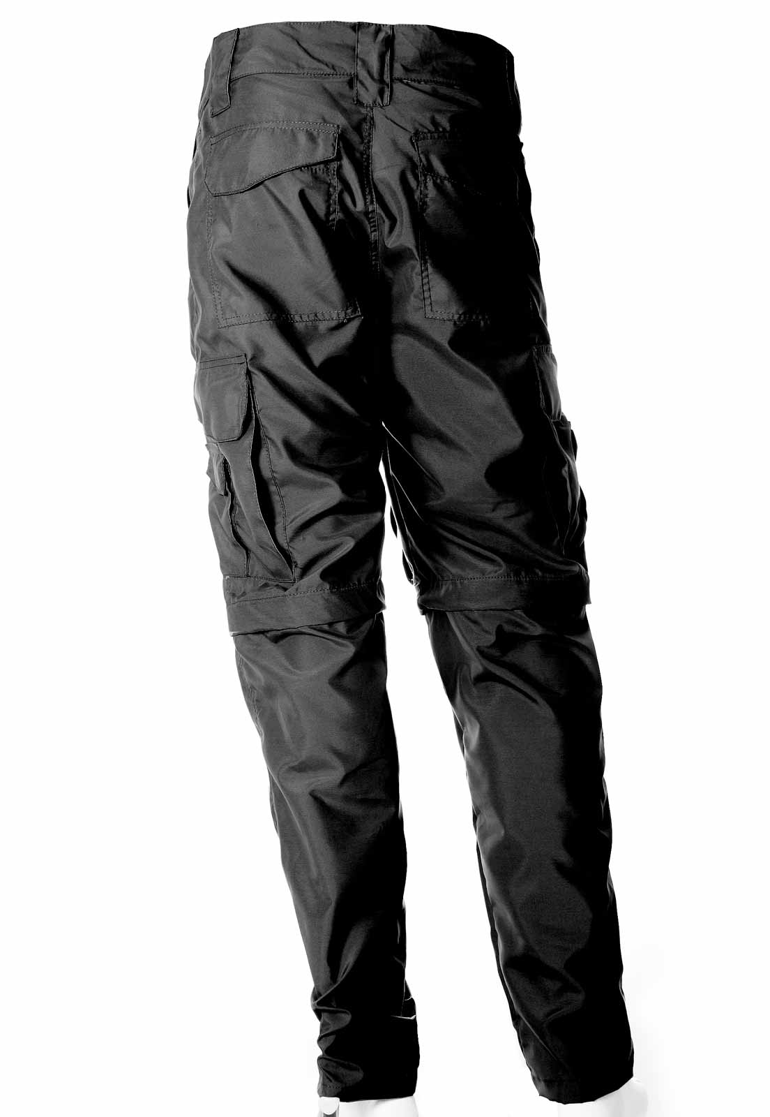 Calça-Bermuda Cores Preta UltraLight Masculina  - REAL HUNTER OUTDOORS
