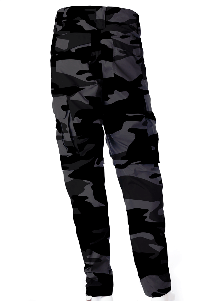 Calça-Bermuda Camuflada Urbano Black UltraLight Masculina   - REAL HUNTER OUTDOORS