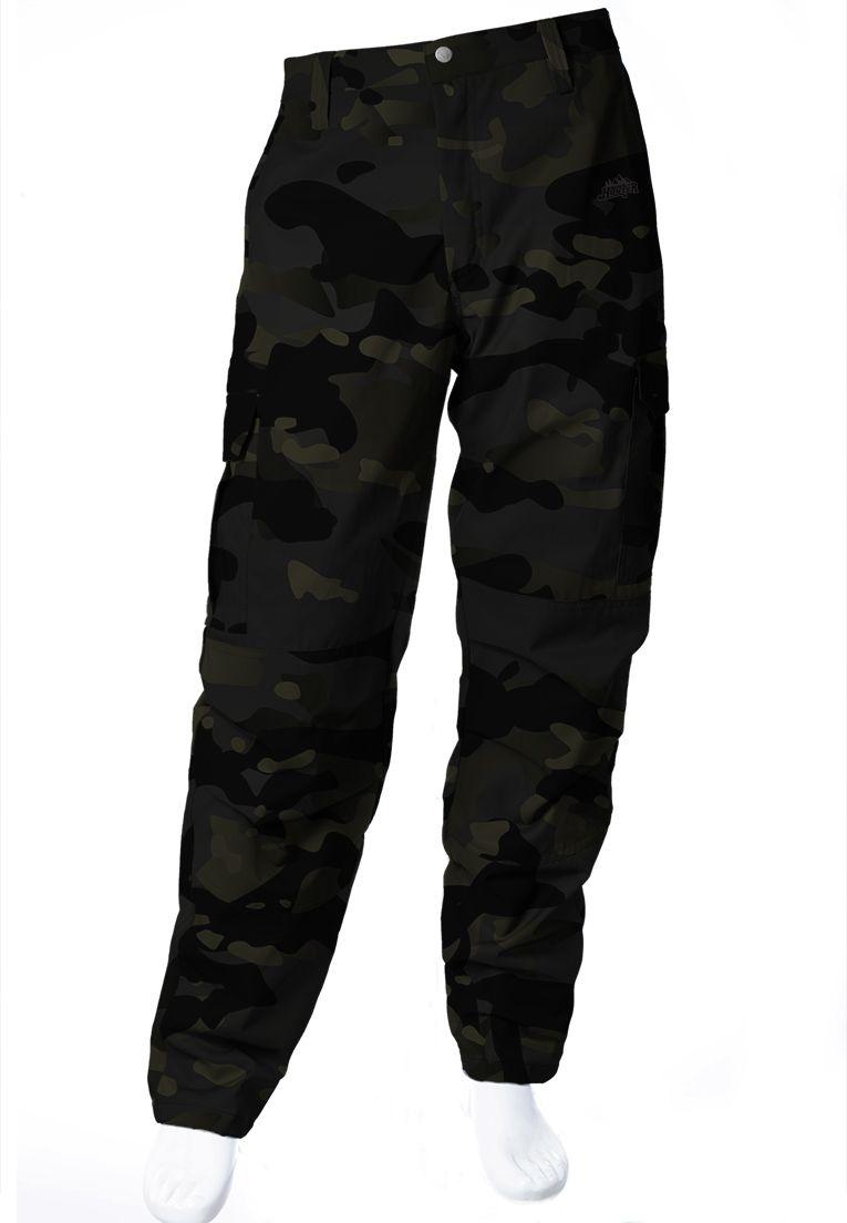 Calça Camuflada Multicam Black Brim Flúor Carbon Masculina  - REAL HUNTER