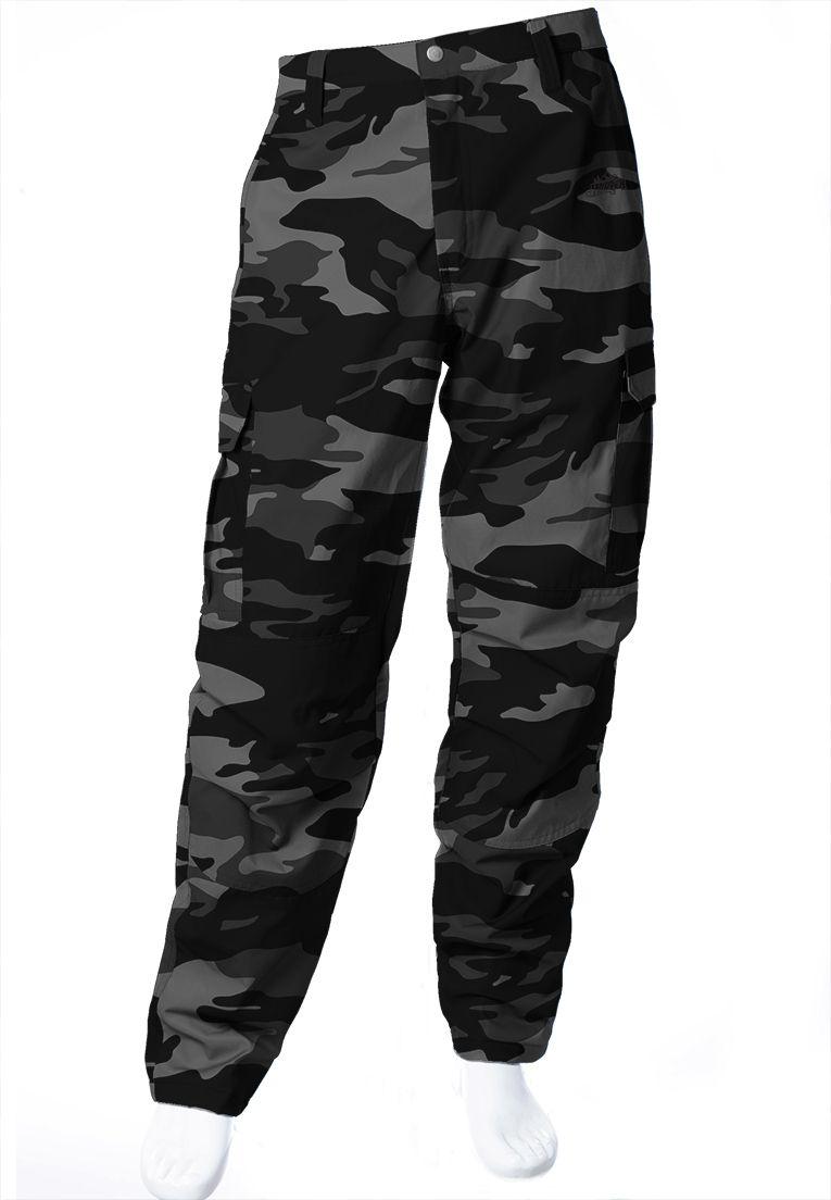 Calça Camuflada Urbano Black Brim Flúor Carbon Masculina  - REAL HUNTER