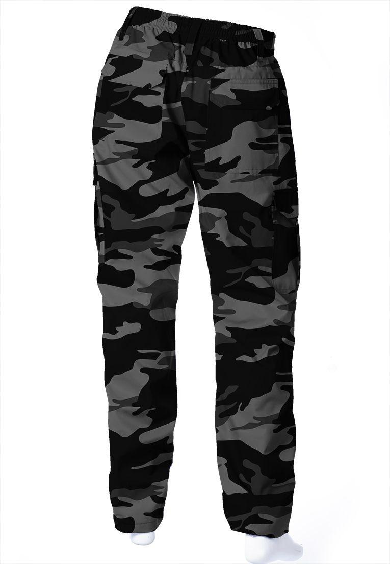 Calça Camuflada Urbano Black Brim Flúor Carbon Masculina  - REAL HUNTER OUTDOORS